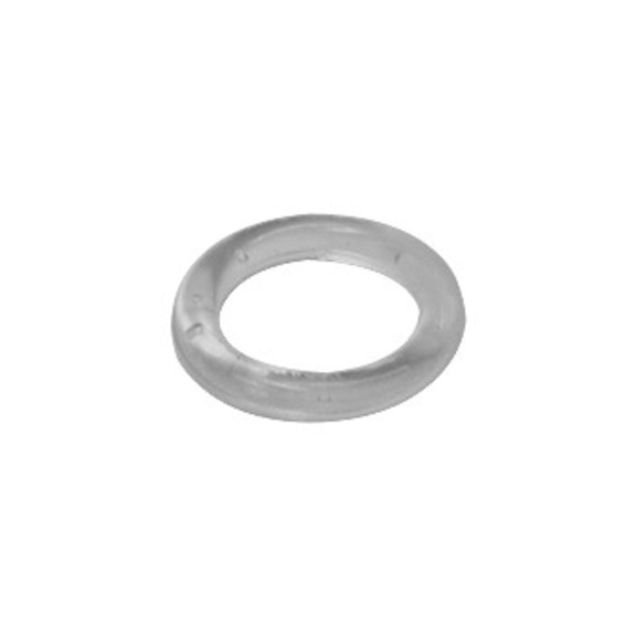 0-167-CA-00400 | Plastic Cord Sew-On Ring Clear