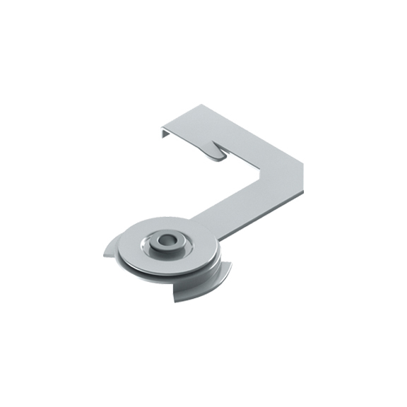 0-181-CA-00600 | Sliding Panel  Installation Swivel Clip 4 & 5 Channels, Zinc