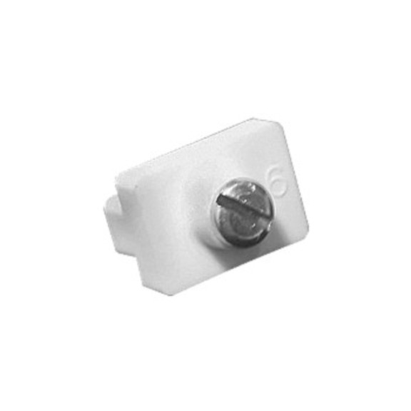 0-181-CA-01200 | Sliding Panel  Channel Stopper with Screw - White