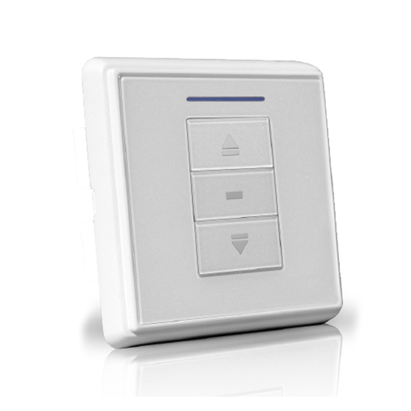 6-700-AT-E1W01 | VTi® Celtic RF Wireless Euro Wall Switch 1 Channel